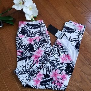 Velocity High Rise Leggings Pink Floral Size M